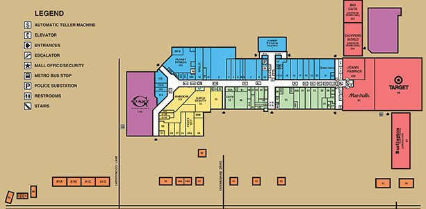 Beltway Plaza Mall map