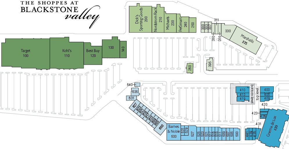 The Shoppes at Blackstone Valley map