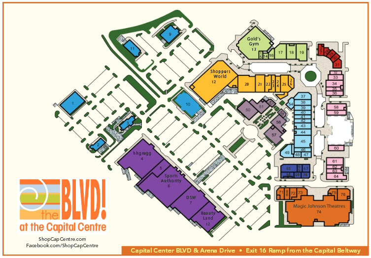 Boulevard at the Capital Centre map