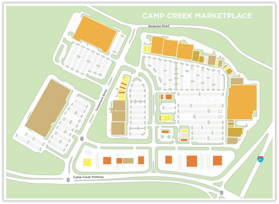 Camp Creek MarketPlace map