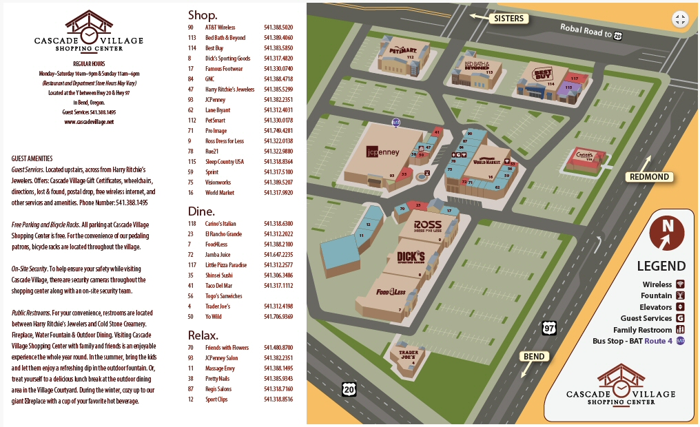 Map of Cascade Village Shopping Center