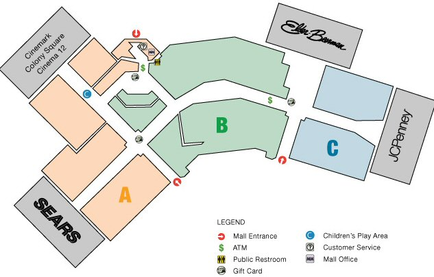 Colony Square Mall map