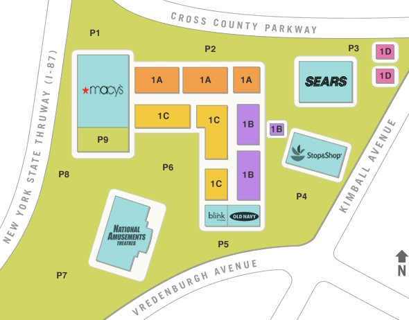 Cross County Shopping Center map