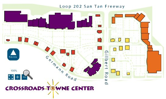Crossroads Towne Center map