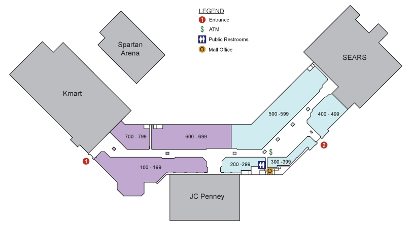 Diamond Run Mall map