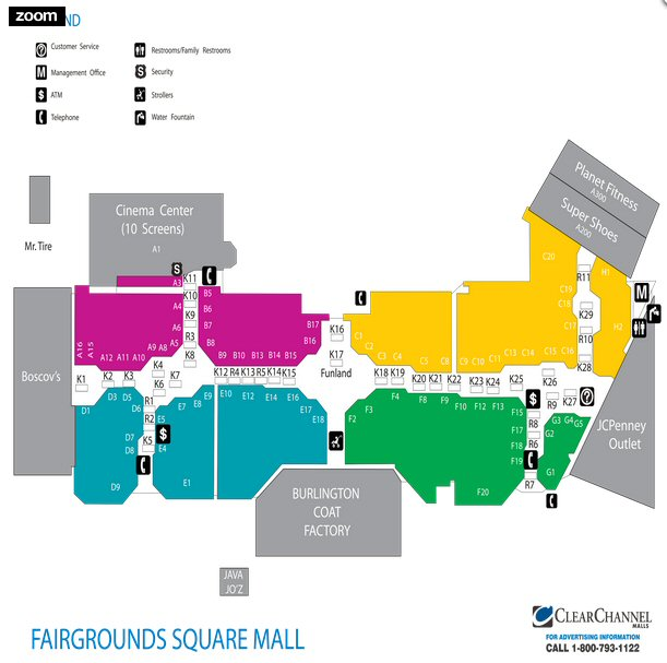Fairgrounds Square Mall map