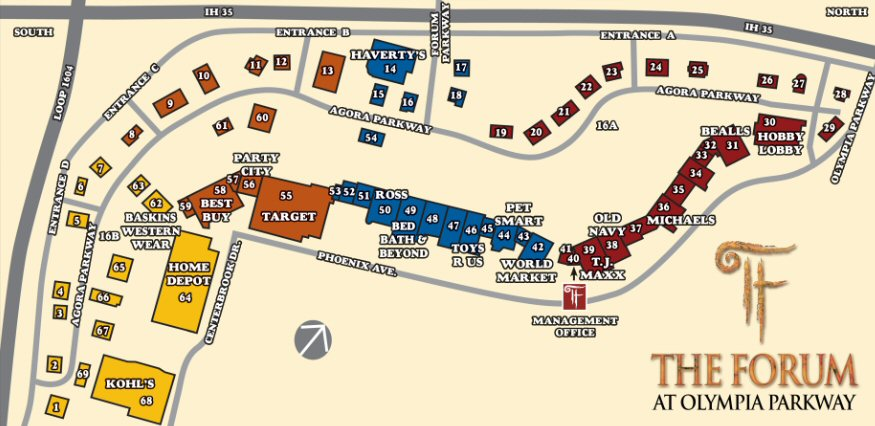 The Forum at Olympia Parkway map