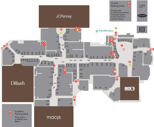 Franklin Park Mall map