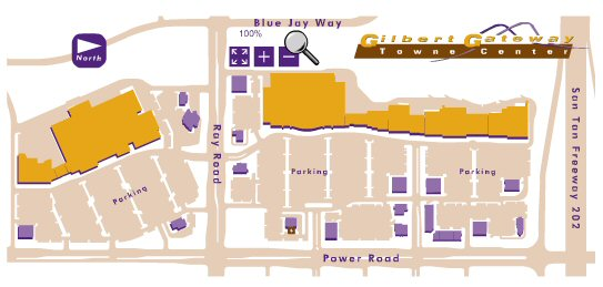Gilbert Gateway Towne Center map