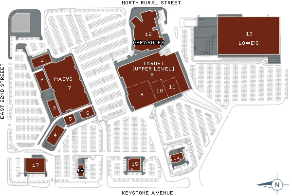 Map of Glendale Town Center