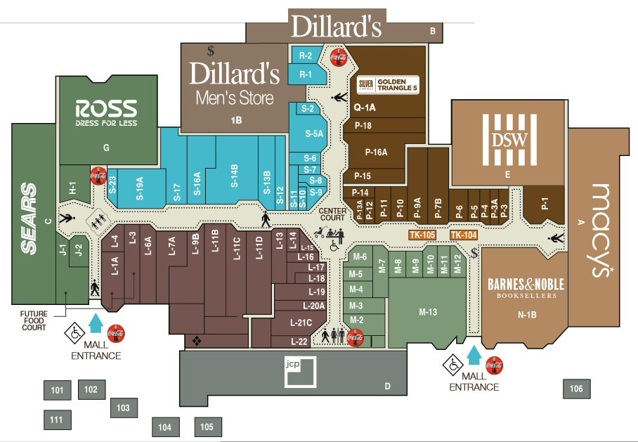 Golden Triangle Mall map