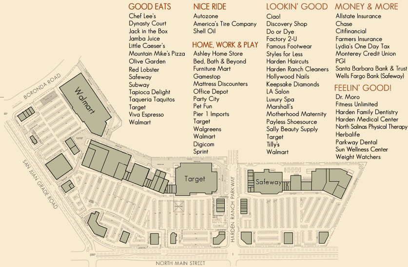 Harden Ranch Plaza map