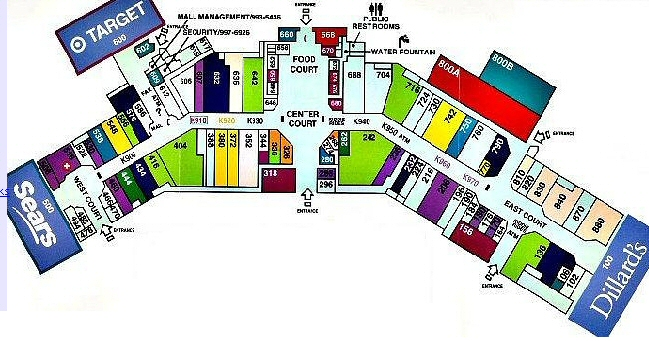 Illinois Star Centre Mall map