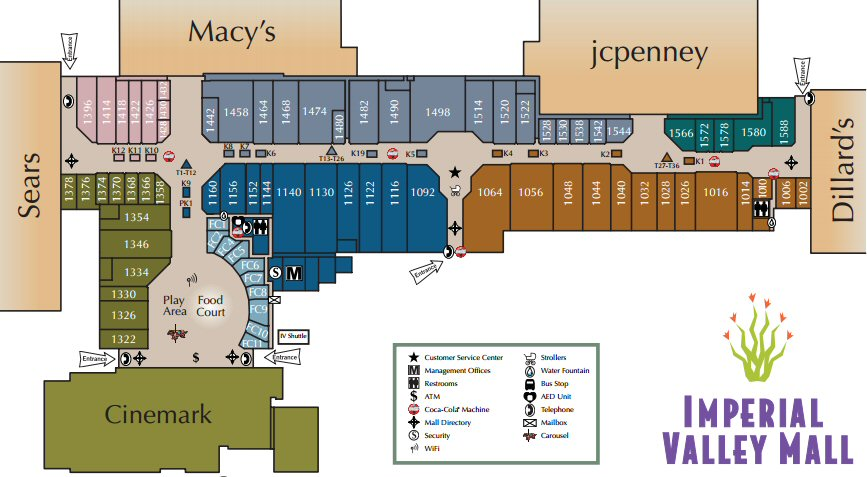 Imperial Valley Mall map