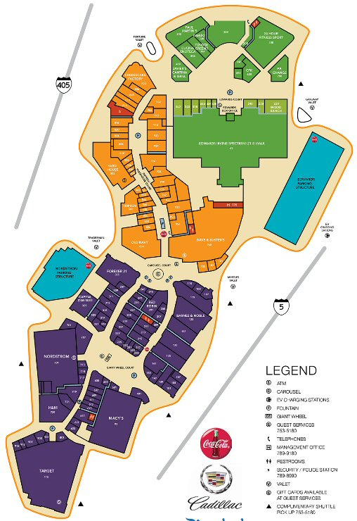 Irvine Spectrum Center map