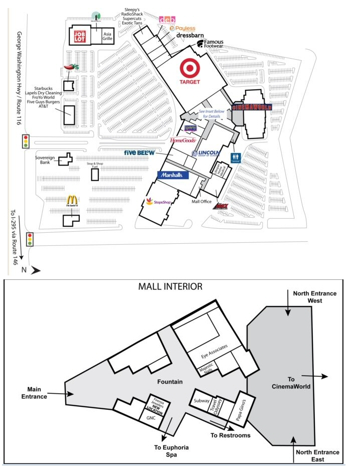 Lincoln Mall map
