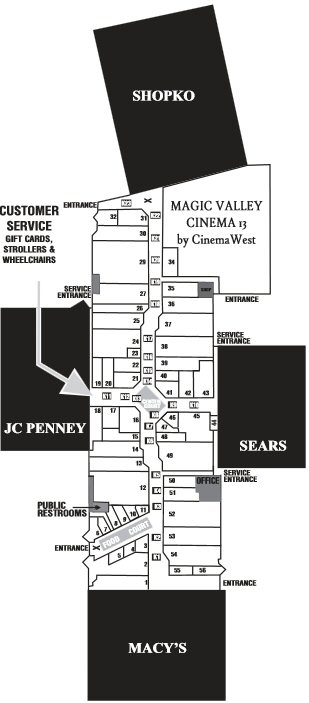 Magic Valley Mall map