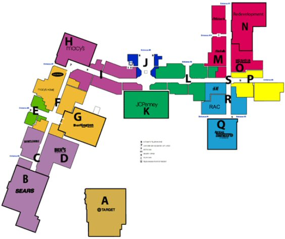 The Mall at Greece Ridge map