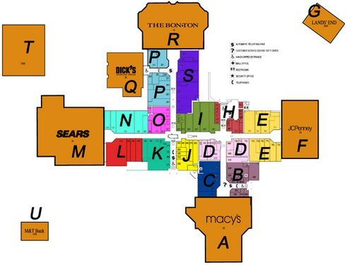 The Marketplace Mall map