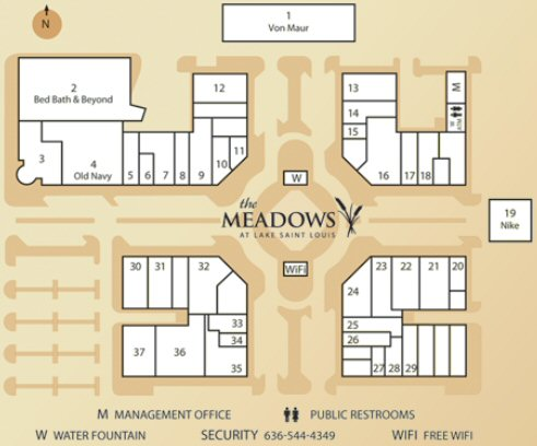 The Meadows at Lake St Louis map