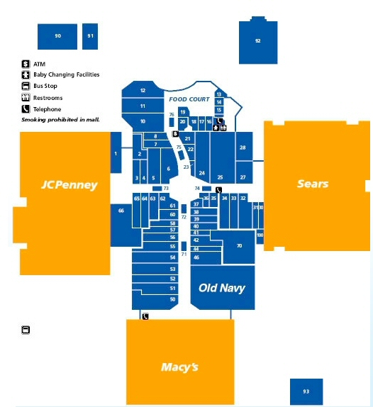 Mt. Shasta Mall map