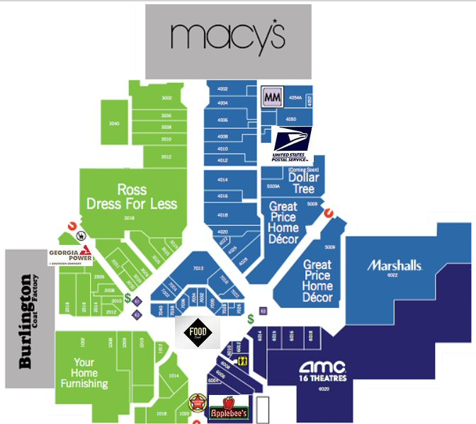 North Dekalb Mall map