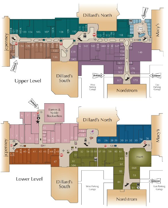Oak Park Mall map