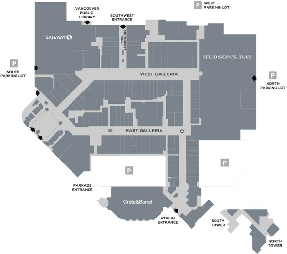 Oakridge Centre map