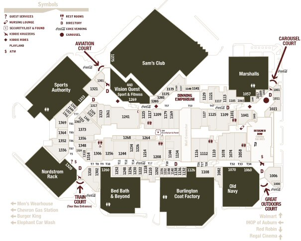 Outlet Collection Seattle map