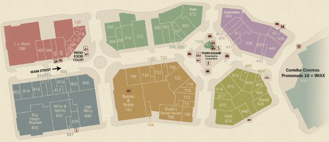 The Promenade Shops at Saucon Valley map