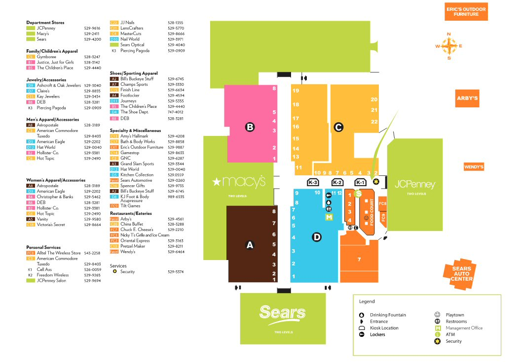 Richland Mall map