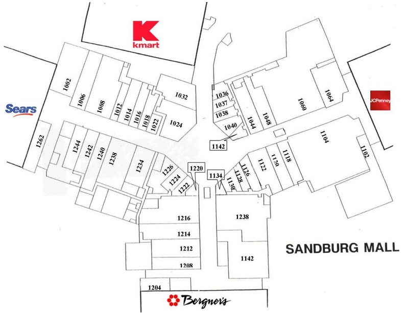 Sandburg Mall map