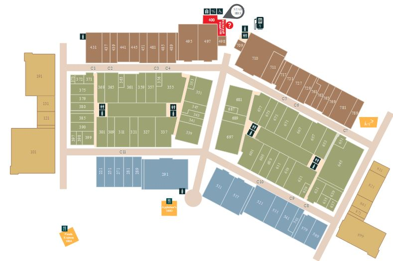 Tanger Outlets Savannah map