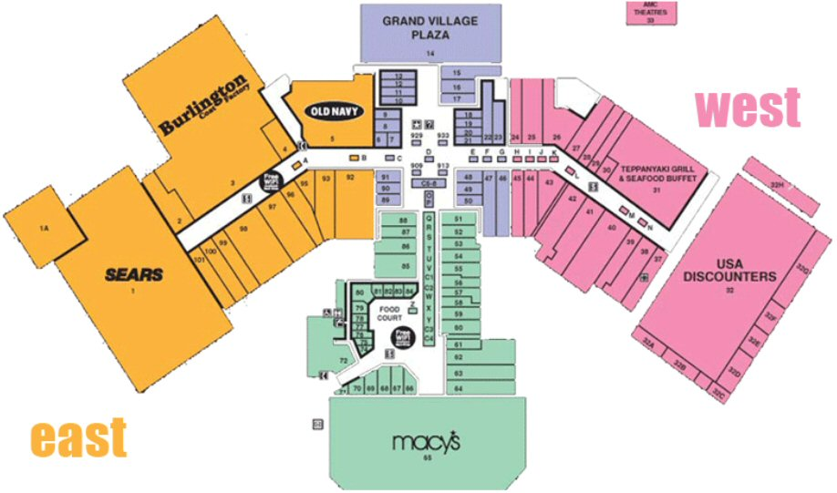 Security Square Mall map