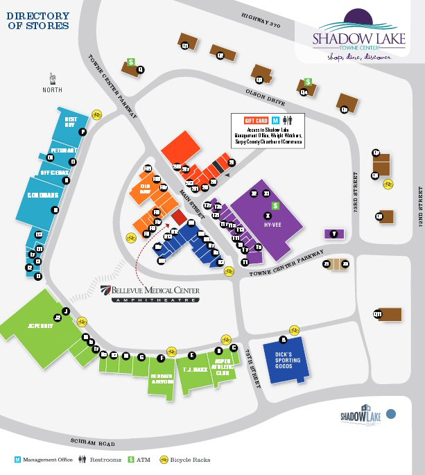 Shadow Lake Towne Center map