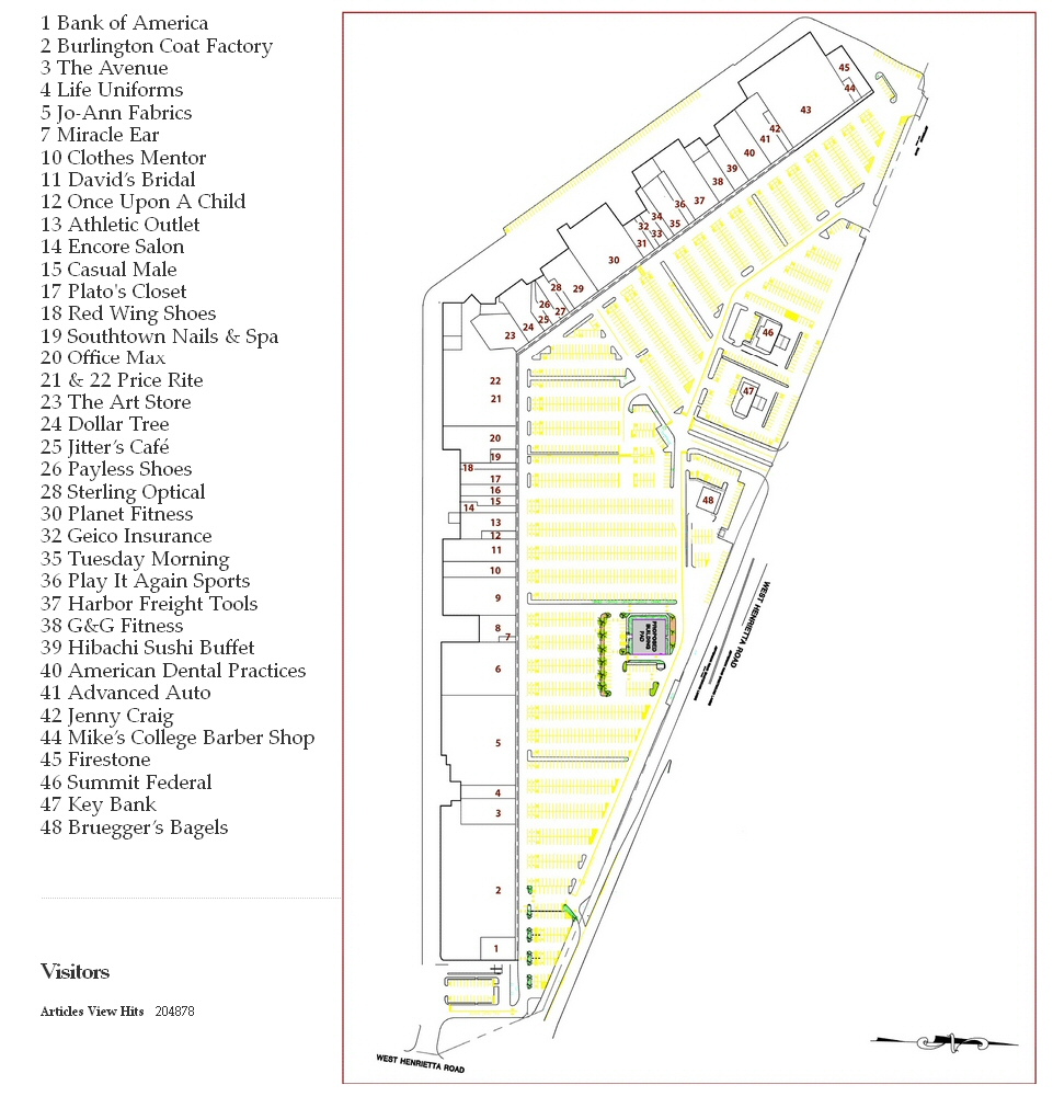 South Town Plaza map