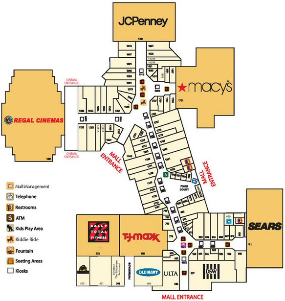Southland Mall - Miami map
