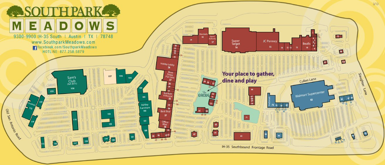 Southpark Meadows map