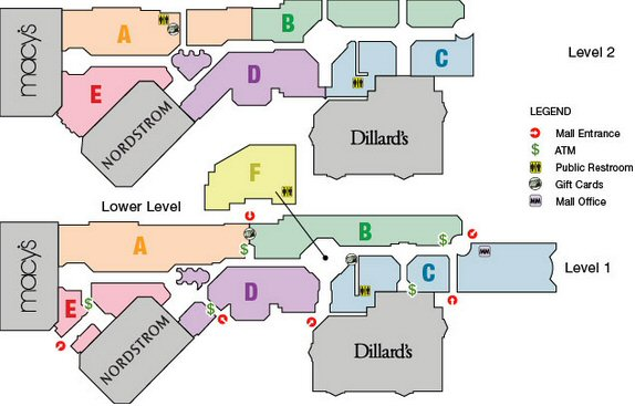 Saint Louis Galleria map