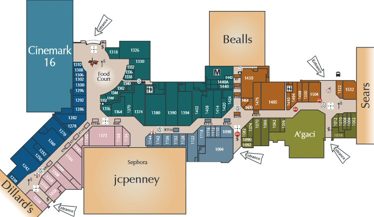 Sunrise Mall map