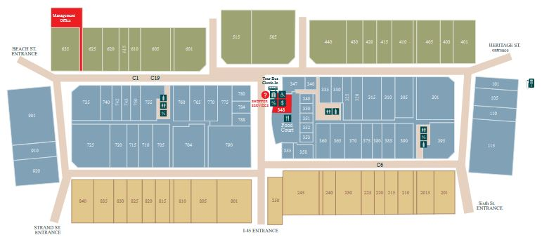 Tanger Outlets Houston map