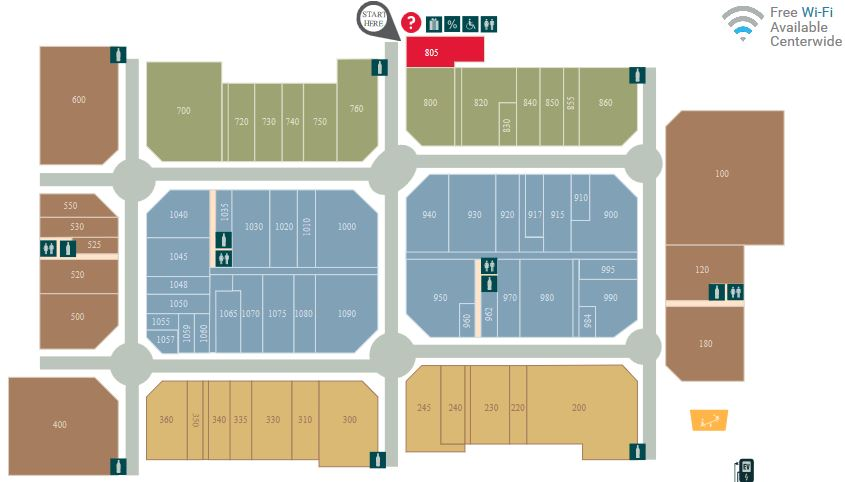 Tanger Outlets Southaven map