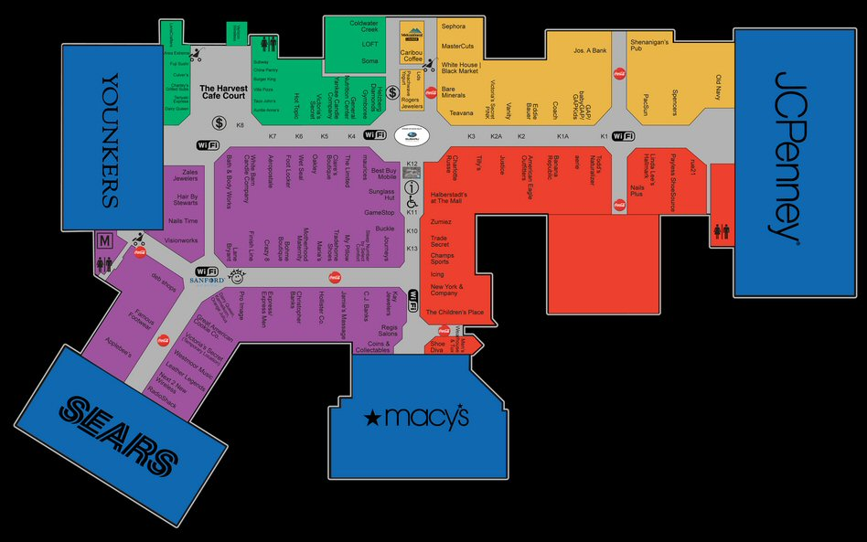 The Empire Mall map