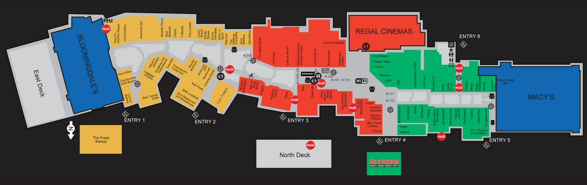 The Falls Shopping Center map
