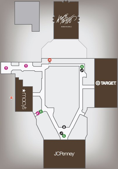Westfield Trumbull Shopping Centre map