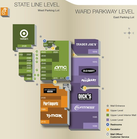 Ward Parkway Center map